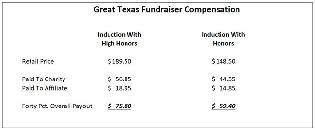 Great Texas Fundraiser Compensation